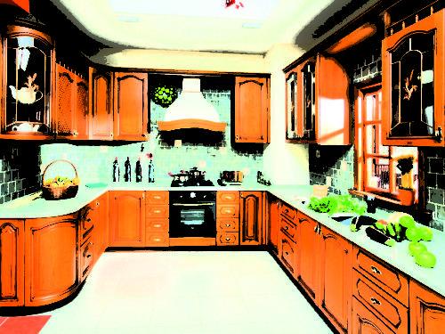 Кухня Патина 026 цена: от 19000 руб. пог./метр