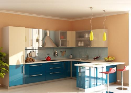 Кухня Пластик 023 цена: от 21000 руб. пог./метр