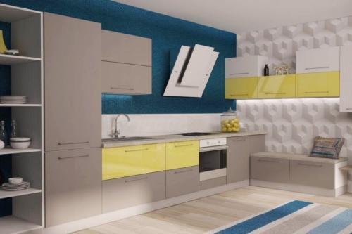Кухня Угловые 004 цена: от 17500 руб. пог./метр